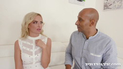 Private.com - Horny Blonde Takes on Four Black Stallions